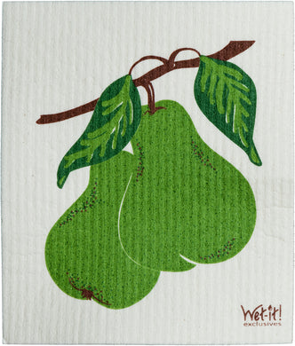 BARTLETT PEARS - SWEDISH DISHCLOTH