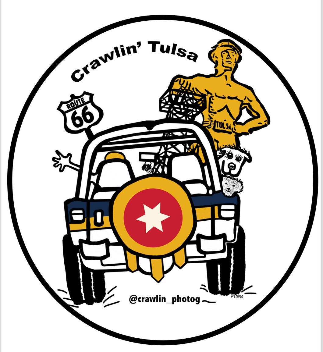 Tulsa Flag Sticker for Jeep Lovers - Crawlin' Tulsa