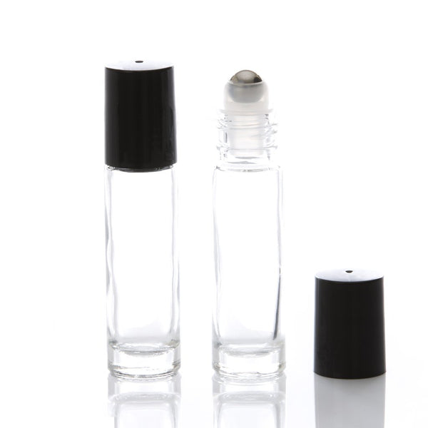 Atelier Botanic | Un roll-on 10 ml transparent bouchon noir