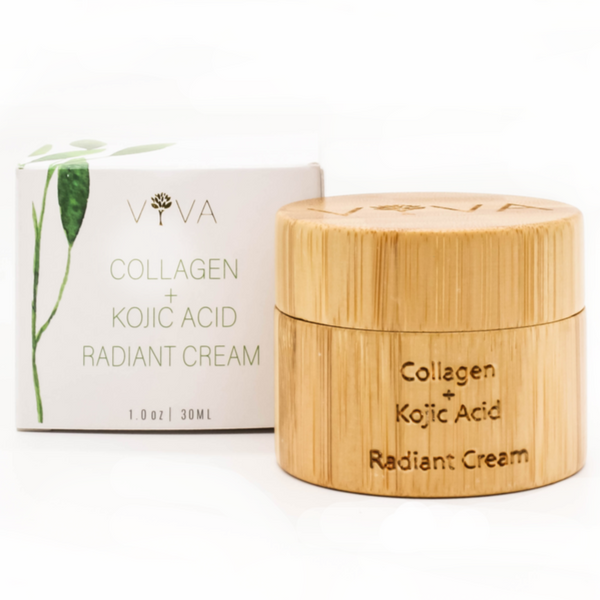VIVA ORGANICS | Crème au collagène et à l'Acide Kojique Collagen and Kojic Acid radiant cream
