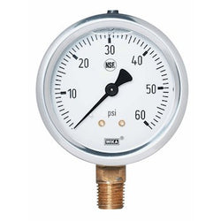 NPT Glycerin Fill Bottom Pressure Gauge - 1/4