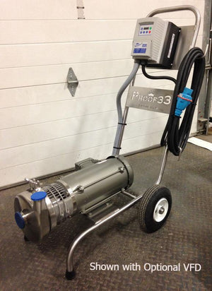 Cart Mounted Centrifugal Pump with 3 HP Air Motor
