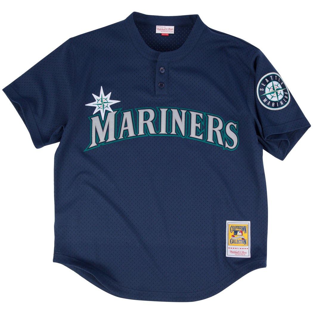 f51514913d5 Mitchell   Ness Ken Griffey Jr. 1995 Authentic Mesh BP Jersey Seattle  Mariners ...