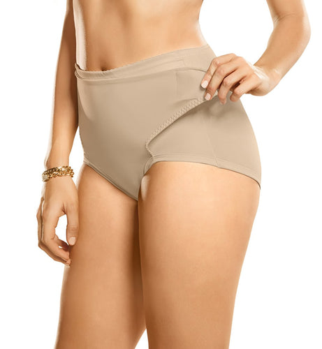 Leonisa Postpartum Panty with Adjustable Belly Wrap Light Beige