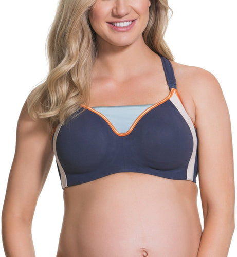 Cake Orange Zest Flexible Wire Nursing Sports Bra (24-1018)