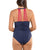 Leonisa Shirred Strappy Back Sculpting Swimsuit (190899)