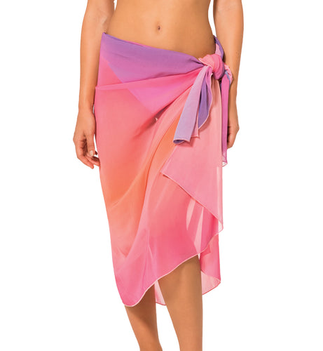 DORINA Menorca Sarong Swim Cover Up (D01007W),One Size,Pink Print - Pink Print,One Size