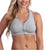 Valmont Zip-Front Sports Bra #1611A Heather Gray