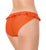 Cleo by Panache Rita Frill Bikini Brief (CW0129),Small,Orange Print - Orange Print,Small