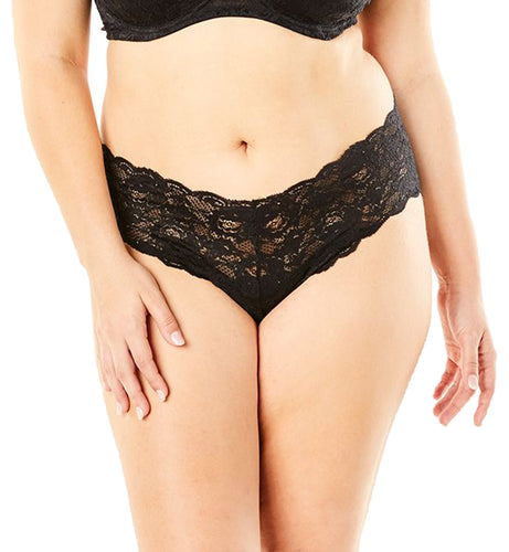 Cosabella Never Say Never Hottie Plus Lowrider Hotpant (NEVER0725P),2X,Black - Black,2X