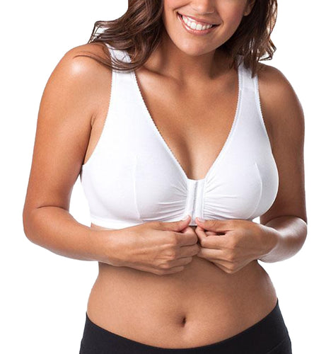 Leading Lady Meryl Cotton Front Closure Bra (110)- White