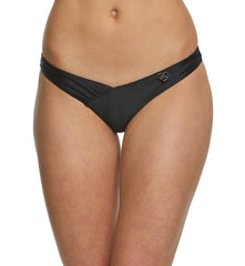 "Body Glove ""Smoothies"" Coco Ruched Dipped Front Bikini Brief #39506233 Black"