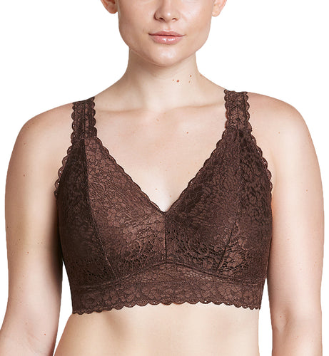 Parfait Adriana Banded Stretch Lace Wireless Bralette (5482)- Deep Nude
