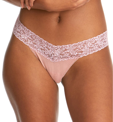 Hanky Panky Cotton-Spandex Low Rise Thong (891582P)