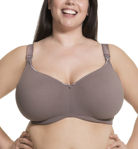 Cake Raisin Croissant Flexible Wire Seamless Nursing Bra (24-1016-56)- Purple