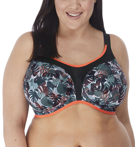 Elomi Energise J-Hook Underwire Sports Bra (8042),32GG,Camotropic - Camotropic,32GG