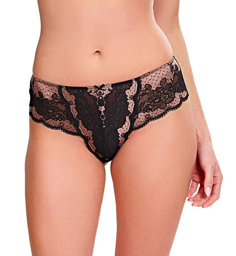 Panache Clara Matching Brief #7253 (Taupe/Black)