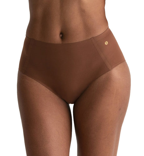 Evelyn & Bobbie High-Waisted Retro Bikini Panty (1714),US 16-24,Clay - Clay,US 16 - 24