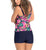 Leonisa Bright Pattern Tankini with Short Bottom (201435N),Large,Floral - Floral,Large