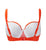Cleo by Panache Rita Padded Balcony Bikini Top (CW0120),28D,Orange Print - Orange Print,28D