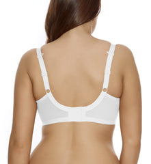 "Elomi ""Energise"" J-Hook Underwire Sports Bra #8041 - White"