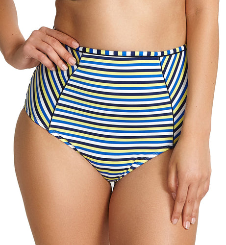 Panache Summer Retro Deep Swim Pant (SW1185),Small,Blue/Yellow - Blue/Yellow,Small