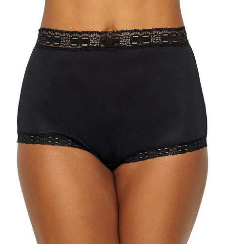 OLGA Secret Hug Nylon Scoop Full Brief Panty #873 (Black)