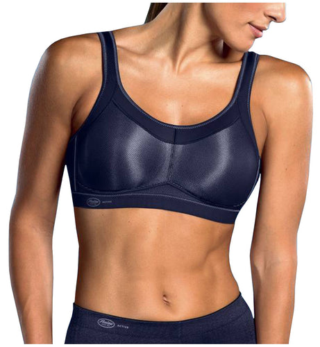 Anita Momentum Max Support Wireless Sports Bra (5529)- Blue Iris