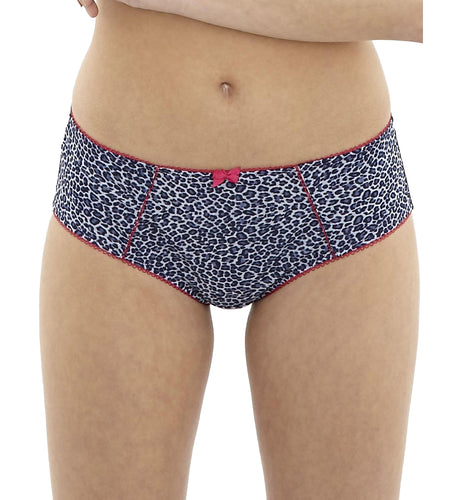 Cleo by Panache Mimi Hipster Panty Brief (8092),Small,Blue Animal - Blue Animal,10