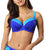 Comexim Treasure Padded Plunge Underwire Bikini Top (CMTREASUR),28E,Blue Colorblock - Blue Colorblock,28E