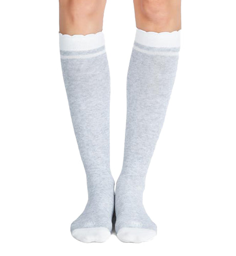 Belly Bandit Compression Socks (BBSOCKS),Size 1,Heather Grey/White - Heather Grey/White,1