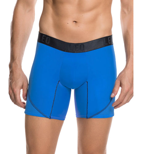LEO Men's Cool Mesh Sport Boxer Brief (033307),Large,Blue - Blue,Large