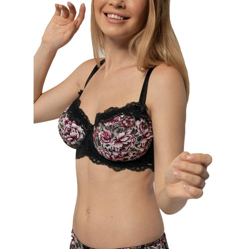 Dorina Curves Dolores Floral Non-Padded 3/4 Cup Underwire Bra (D01494M)- Floral Animal