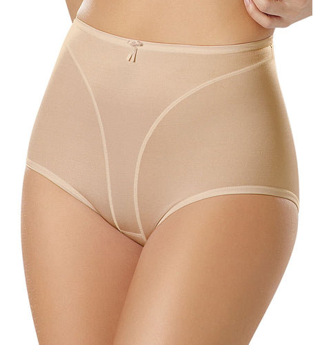 Leonisa High Cut Panty Shaper (01214),Large,Beige - Beige,Large