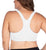 Leading Lady Serena Wirefree Racerback Sports Bra (514)- White