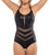 Leonisa Slimming One Piece Mesh Cutout Swimsuit (190897N)