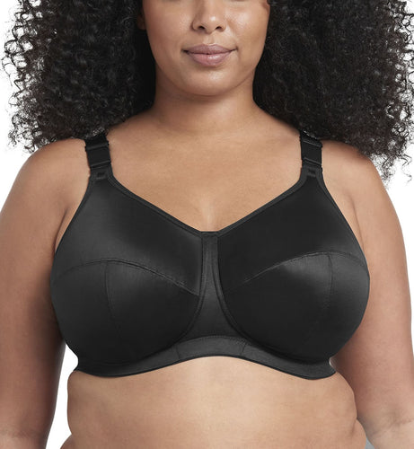 Goddess Celeste Support Softcup (6113),34J,Black - Black,34J