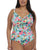 Elomi Aloha Molded Swimsuit with Adjustable Neckline #ES7150 (Aqua)