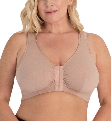 Leading Lady Meryl Cotton Front Closure Bra (110)- Warm Taupe