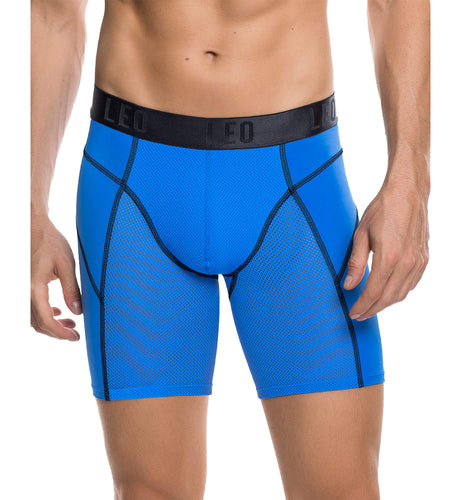 LEO Men's Fresh Mesh Sport Boxer Brief (033303),Large,Blue - Blue,Large