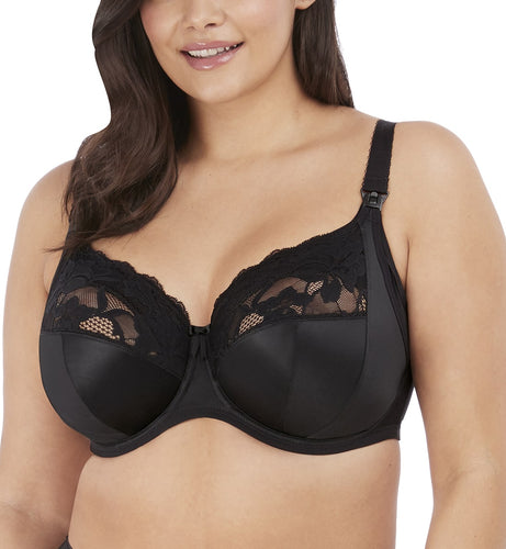 Elomi Molly Stretch Lace Underwire Nursing Bra (4542)- Black