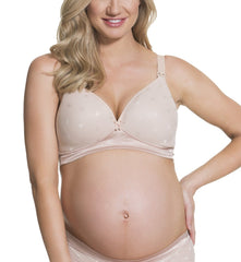 "Cake ""Mousse"" Padded Plunge Wireless Nursing Bra #25-1023"