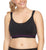 QT Venus Medium Impact J-Hook Non-wire Nursing Sports Bra #N3362, Black/Purple
