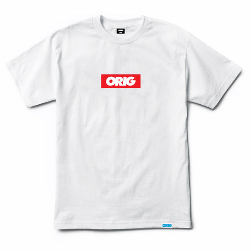 CAMISETA ORIG BOX LOGO RED TEE WHITE