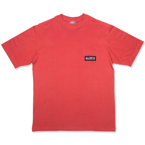 RIGHT THING POCKET TEE CORAL