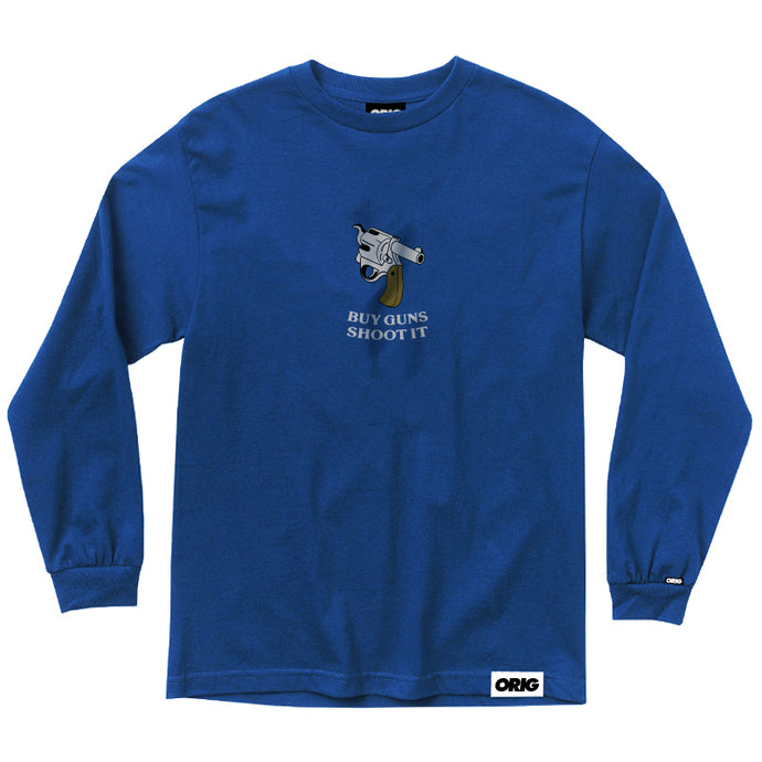 ORIG SHOOT IT LONGSLEEVE ROYAL BLUE