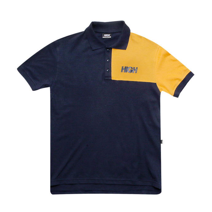 HIGH POLO SQUARE NAVY YELLOW LOGO