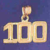 14K GOLD NUMERAL CHARM - 100 #9511