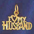 14K GOLD SAYING CHARM - I LOVE MY HUSBAND #10109
