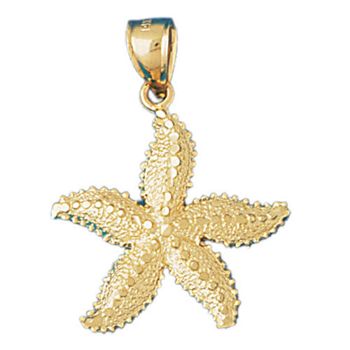 14K GOLD NAUTICAL CHARM - STARFISH, We Specialize in 14Kt Gold charms, 14k gold Pendants,14k gold necklaces,14k Gold Bracelets,14k Gold Earrings,14k Gold Rings
